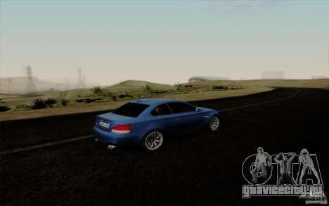 BMW 1M 2011 V3 для GTA San Andreas вид изнутри