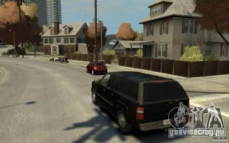 Chevrolet Suburban 2003 FBI для GTA 4 вид сзади слева