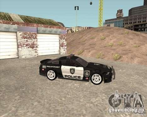 Ford Shelby GT500 2010 Police для GTA San Andreas вид справа