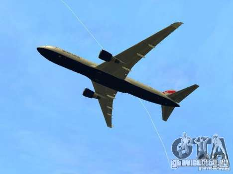 Boeing 767-300 British Airways для GTA San Andreas вид сзади