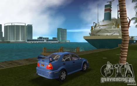 Mitsubishi Lancer Evo VI для GTA Vice City вид справа