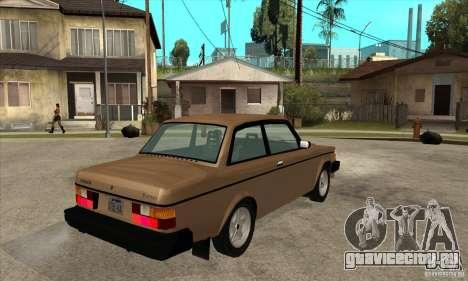 Volvo 240 Turbo для GTA San Andreas вид справа