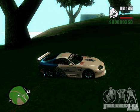 Toyota Supra for B-Day для GTA San Andreas вид сзади слева