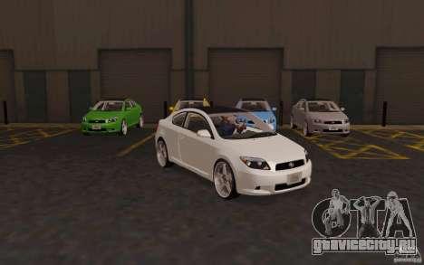 Scion tC для GTA San Andreas вид справа