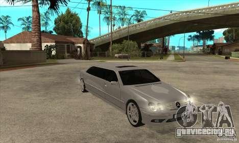 Mercedes-Benz CL65 Limusine для GTA San Andreas вид сзади