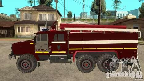 Урал 43206 пожарный для GTA San Andreas вид слева