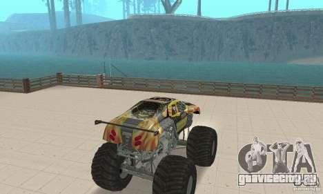 Monster Truck Maximum Destruction для GTA San Andreas вид слева