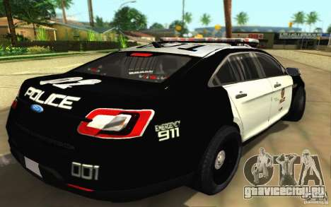Ford Taurus 2011 LAPD Police для GTA San Andreas вид сзади слева