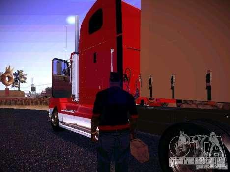 Freightliner FLD 120 для GTA San Andreas вид сзади слева