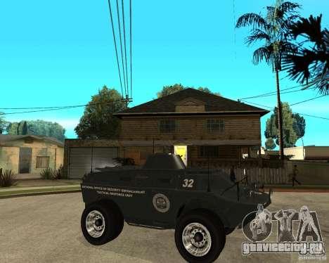 БТР из GTA IV для GTA San Andreas вид справа