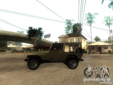 Jeep Wrangler 1986 4.0 Fury v.3.0 для GTA San Andreas вид слева
