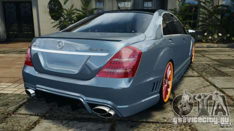 Mercedes-Benz S W221 Wald Black Bison Edition для GTA 4 вид сзади слева