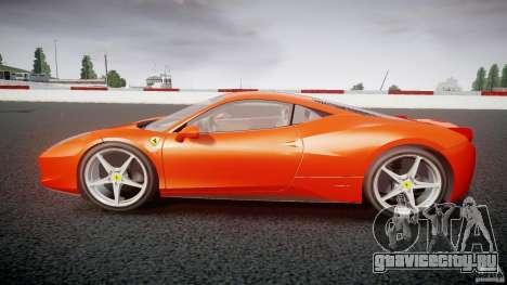 Ferrari 458 Italia 2010 для GTA 4 вид изнутри