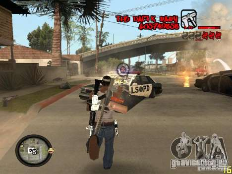 Hud by Dam1k для GTA San Andreas пятый скриншот
