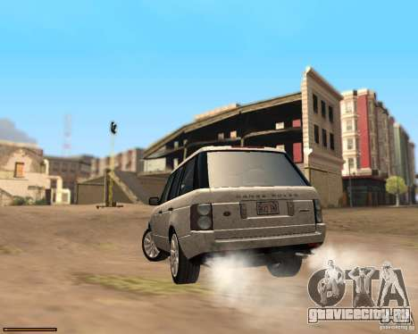 Land Rover Range Rover Supercharged 2008 для GTA San Andreas вид сзади слева