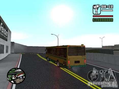 ЛиАЗ 5283.01 для GTA San Andreas вид изнутри