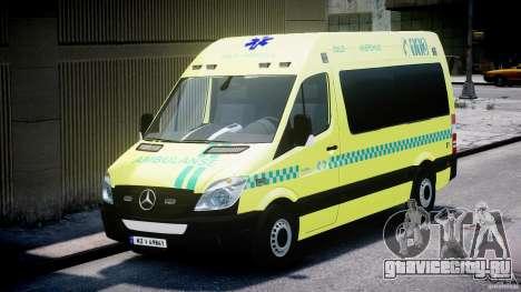 Mercedes-Benz Sprinter PK731 Ambulance [ELS] для GTA 4