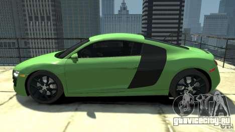 Audi R8 5.2 FSI quattro v1 для GTA 4 вид слева