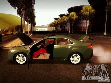 Acura TSX для GTA San Andreas вид сзади