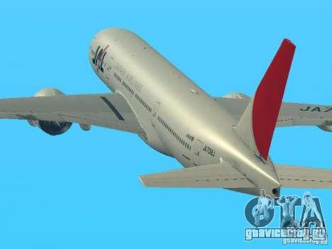 Boeing 777-200 Japan Airlines для GTA San Andreas вид слева