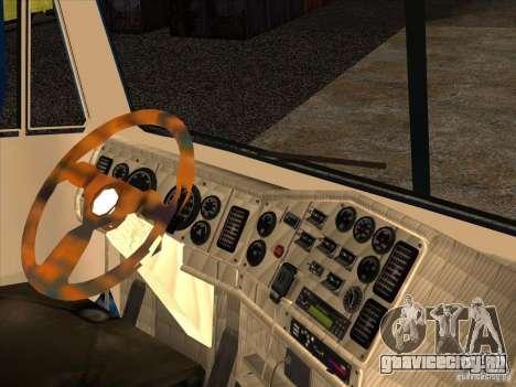 Freightliner Argosy Skin 1 для GTA San Andreas вид изнутри
