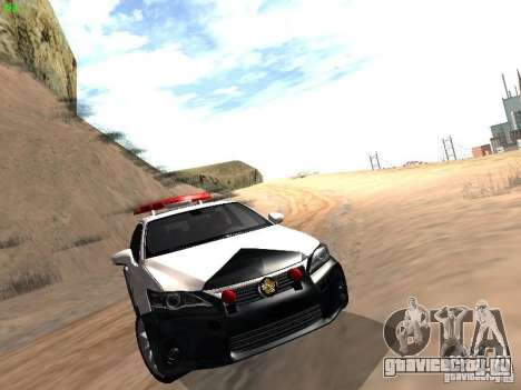 Lexus CT200H Japanese Police для GTA San Andreas