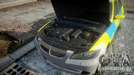 BMW 350i Indonesian Police Car [ELS] для GTA 4 вид сверху