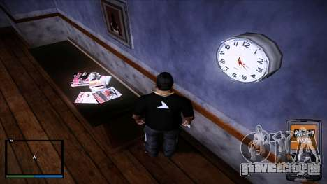 Рабочие настенные часы для GTA San Andreas третий скриншот