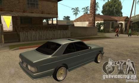 Mercedes-Benz 560 sec w126 1991 для GTA San Andreas вид справа