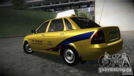 ВАЗ 2170 Приора Такси ТМК Форсаж для GTA San Andreas вид слева