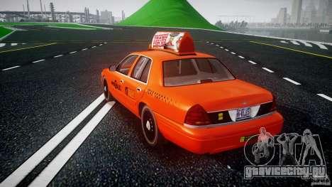 Ford Crown Victoria 2003 v.2 Taxi для GTA 4 вид сзади слева