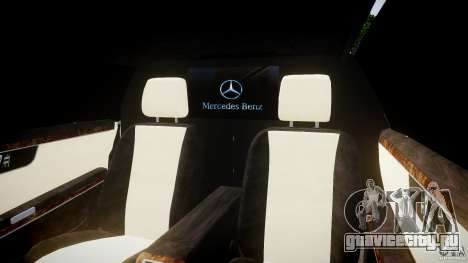 Mercedes-Benz S600 Guard Pullman 2008 для GTA 4 вид изнутри