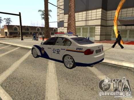 BMW 3 Series China Police для GTA San Andreas вид слева