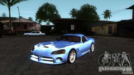 Dodge Viper SRT10 Stock для GTA San Andreas