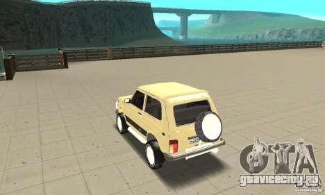 ВАЗ 21213 4x4 для GTA San Andreas вид сзади слева
