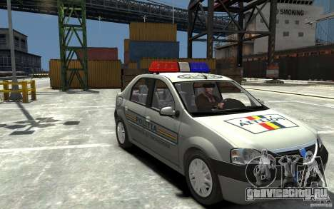 Dacia Logan Prestige Politie для GTA 4 вид сзади
