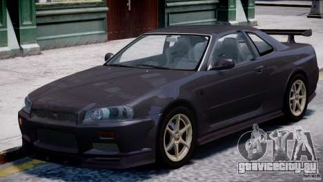 Nissan Skyline GT-R 34 V-Spec для GTA 4 вид слева