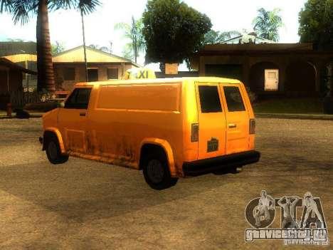Taxi Burrito для GTA San Andreas вид сзади слева