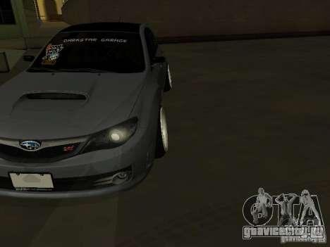 Subaru Impreza STI hellaflush для GTA San Andreas вид сзади