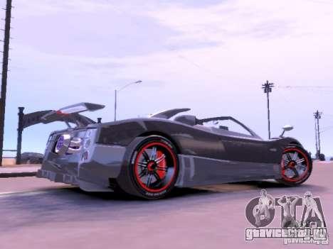 Pagani Zonda Cinque Roadster v 2.0 для GTA 4 вид слева