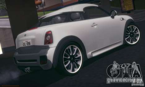Mini Concept Coupe 2010 для GTA San Andreas вид справа