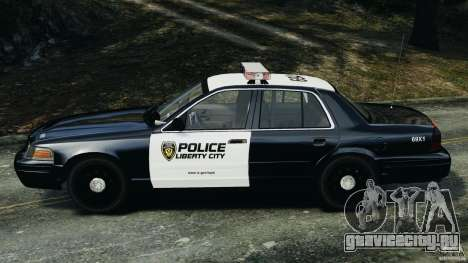 Ford Crown Victoria Police Interceptor 2003 LCPD для GTA 4 вид слева