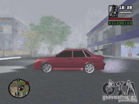 ВАЗ 2115 TUNING для GTA San Andreas вид слева