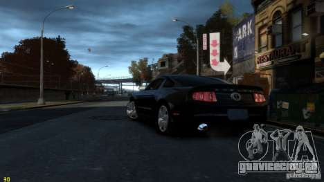 Ford Shelby Mustang GT500 2011 v2.0 для GTA 4 вид сзади слева