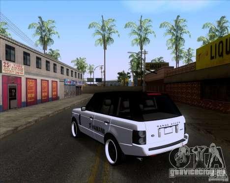 Range Rover Hamann Edition для GTA San Andreas вид сзади слева