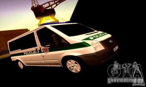 Ford Transit Policija для GTA San Andreas вид слева