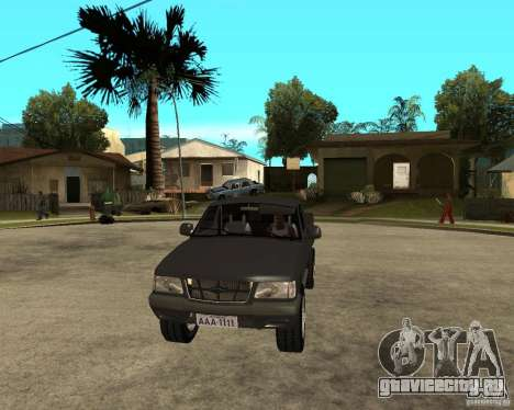 Chevrolet S-10 для GTA San Andreas вид сзади