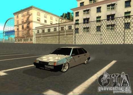 Ваз 2109 ак-47 для GTA San Andreas вид слева