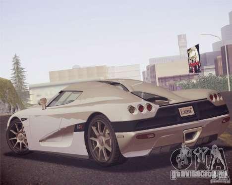 Koenigsegg CCX 2006 v2.0.0 для GTA San Andreas вид справа