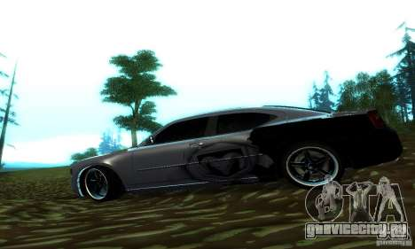 Dodge Charger SRT8 Mopar для GTA San Andreas вид слева